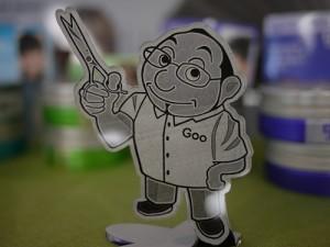 レーザークラフトドットネットさん制作のGoo店長のアクリルの置物