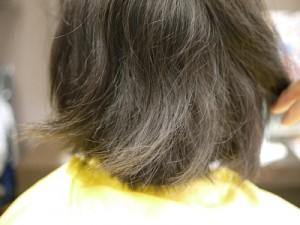 矯正前の髪の状態