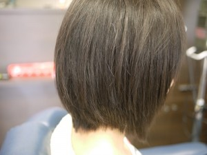 矯正後の毛髪