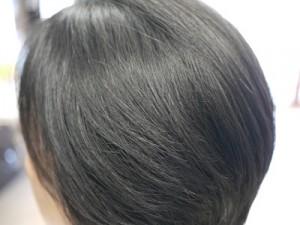 矯正後の毛髪の状態